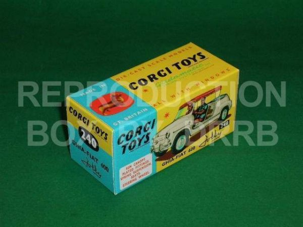 Corgi #240 Ghia - Fiat Jolly - Reproduction Box
